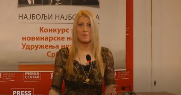 Jelena Zorić (foto: Pres centar UNS-a/Jutjub/skrinšot)